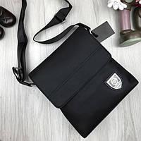 23a7e5c2af72 Стилная женская сумка планшетка Philipp Plein черная через плечо унисекс  текстиль Филипп Плейн люкс реплика