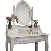 Туалетний стіл Mirka похиле дзеркало + стілець, фото 2