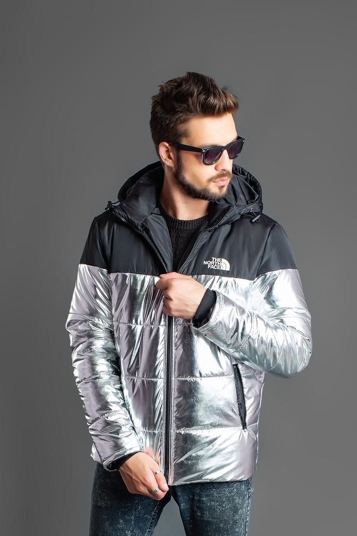"""Мужская демисезонная куртка на синтепоне """"TNF"""" с капюшоном"""