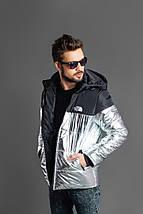 """Мужская демисезонная куртка на синтепоне """"TNF"""" с капюшоном, фото 3"""