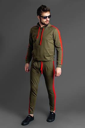 """Мужской трикотажный спортивный костюм """"LAMAS"""" с контрастными лампасами (3 цвета), фото 2"""