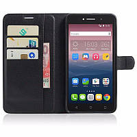 Чехол-книжка Litchie Wallet для Alcatel One Touch Pixi 4 8050D Черный