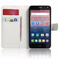 Чехол-книжка Litchie Wallet для Alcatel One Touch Pop 4 5051D (5.0) Белый