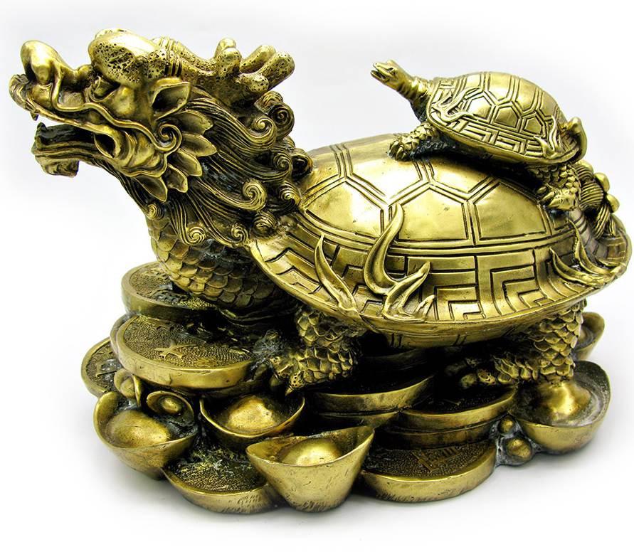 Статуетка з бронзи ЧерепахаДракон