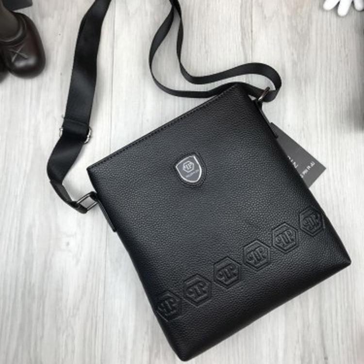 f5989858c0ef Новинка женская сумка-планшет Philipp Plein черная планшетка через плечо  унисекс эко кожа Филипп Плейн