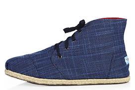 Мужские слипоны Toms High M размер 45 Синие, КОД: 240264