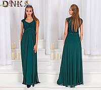 Вечернее платье в пол без рукавов с сеткой