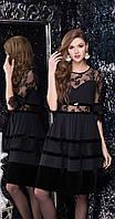 Платье LeNata-11980 белорусский трикотаж, черный, 44