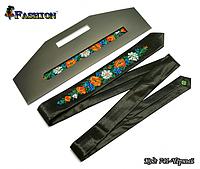 Узкий вышитый галстук Цветы