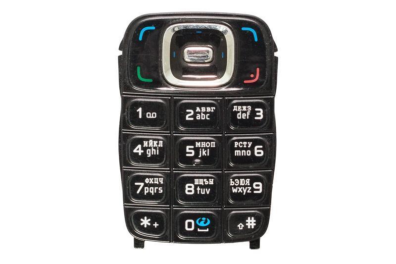 Клавіатура для телефону Nokia 6131, чорна, російська