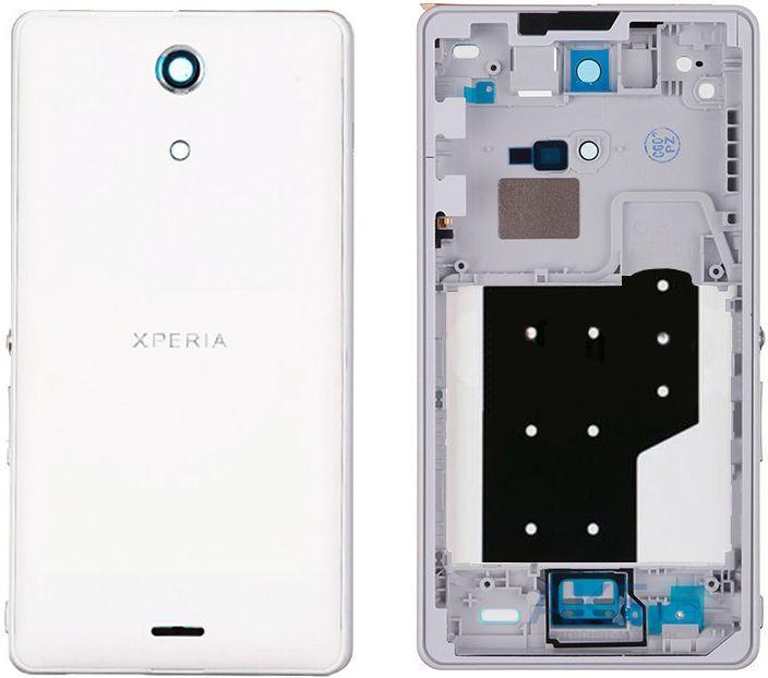 Корпус для смартфона Sony Xperia ZR C5502 M36h, C5503 M36i, белый