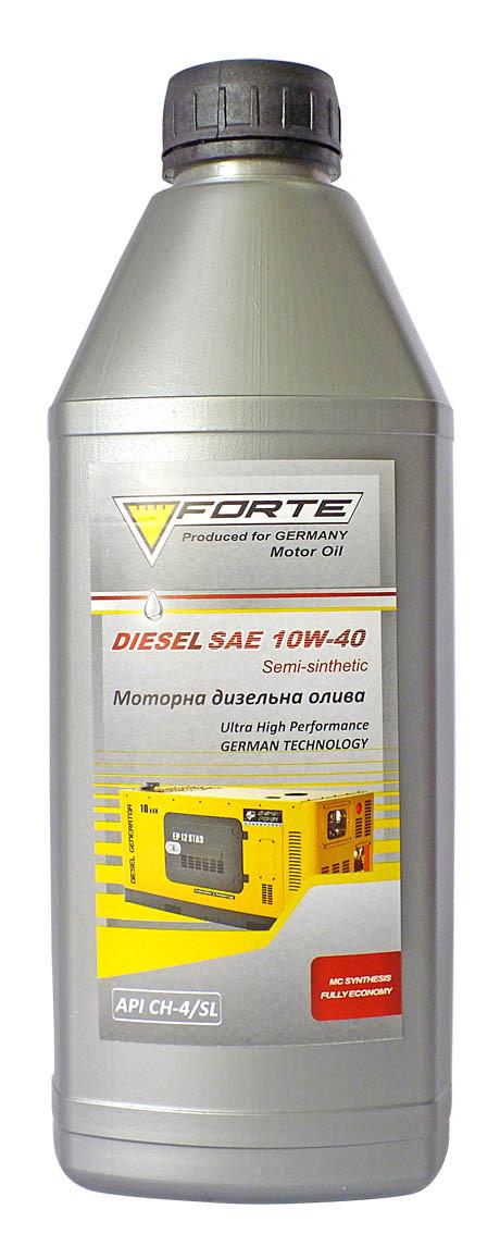 Масло для компрессоров FORTE DIESEL SAE10W-40 API CH-4/SL (1л)