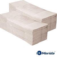 Полотенца бумажные Merida 5000 серые листовые сложения ZZ однослойные, Польша