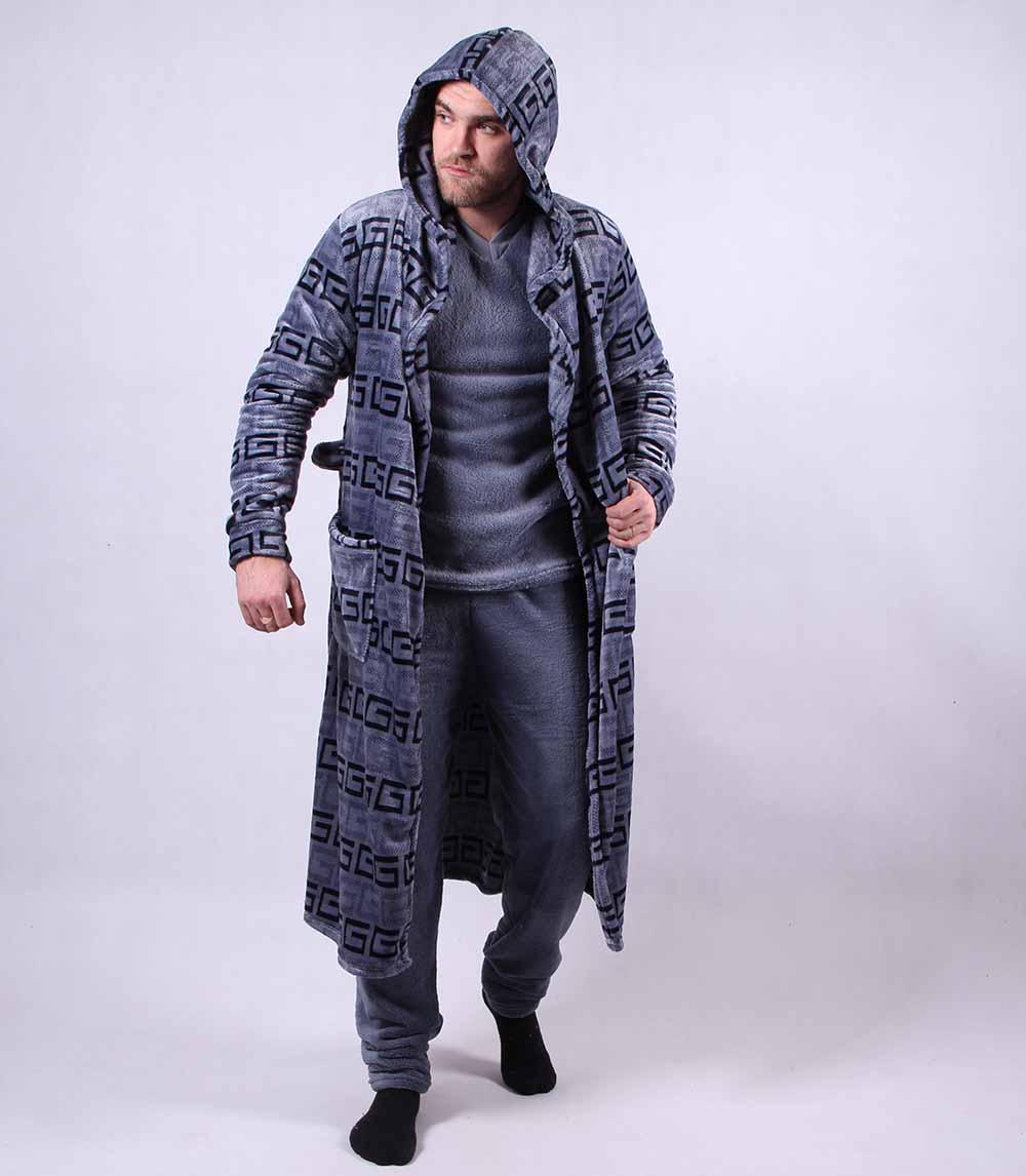 Набор мужской пижама и халат  (Версачи) р. 48-56
