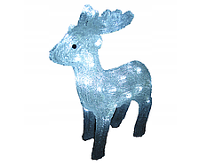 Новогодняя акриловая статуя олененок смотрит вперед, Светящиеся новогодние олени 40LED
