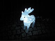 Новогодняя акриловая статуя олененок смотрит вперед, Светящиеся новогодние олени 40LED, фото 3