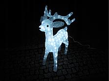 Новогодняя акриловая статуя олень средний RENIFER, Светящиеся новогодние олени 160 LED, фото 3