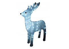 Новорічна акрилова статуя олень середній, Світяться новорічні олені 120 LED