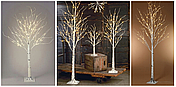 "Новогоднее декоративное дерево-гирлянда ""Береза"" 180 см 96 Led IP 44, фото 3"