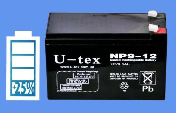 Аккумулятор U-tex 12В / 9,0 Ah