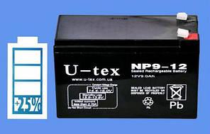 Акумулятор U-tex 12В / 9,0 Ah
