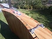 Деревянный лежак - шезлонг ERGO (дерево черешня), фото 2