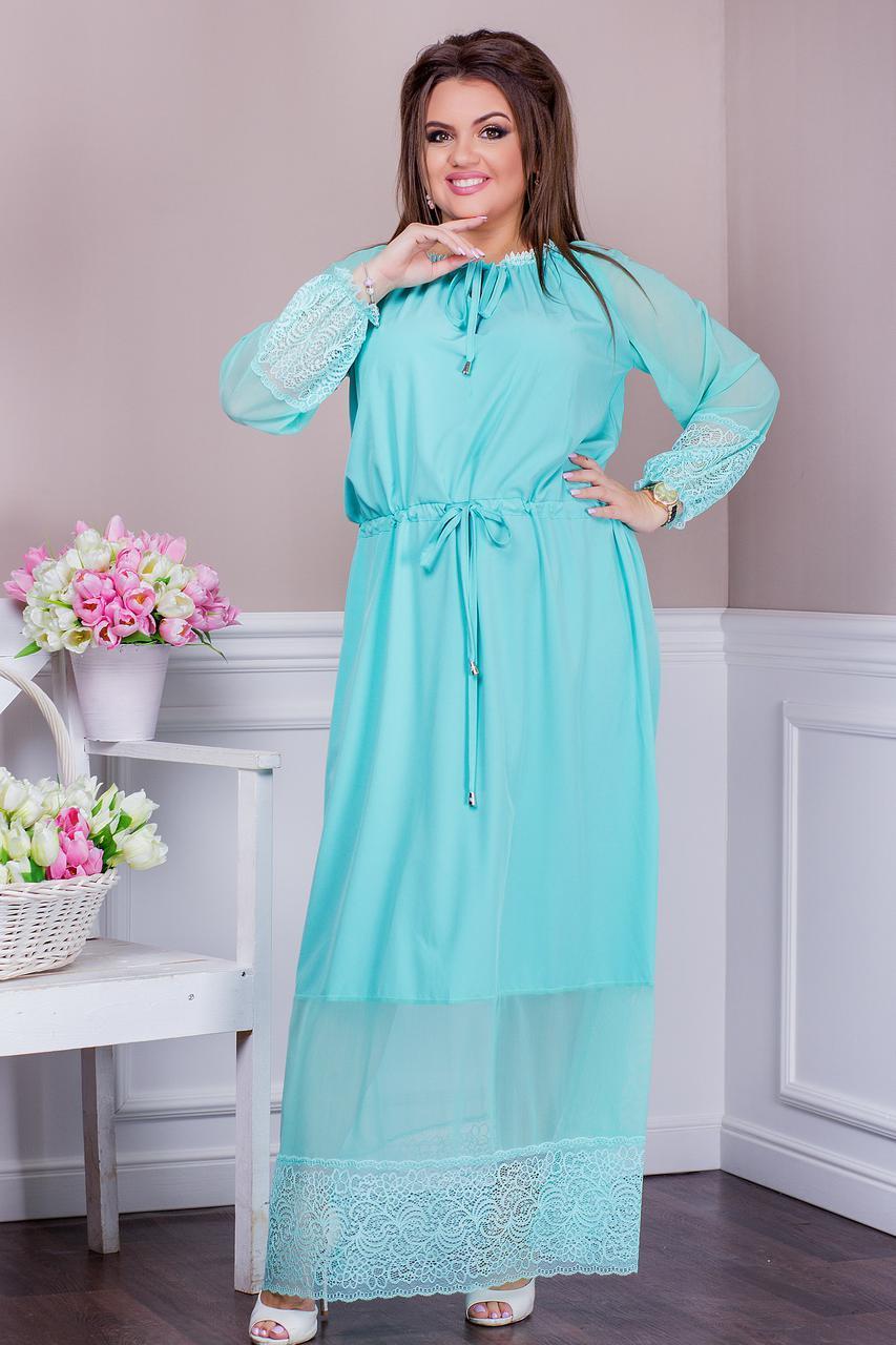 7e928028206 Шикарное женское платье для праздника с сеткой и кружевом батал ...