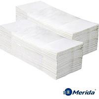Полотенца бумажные Merida 4000 белые листовые сложения ZZ однослойные, Польша