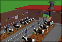 Установка систем вентиляции в коровнике