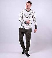 Теплая мужская пижама р.44-52