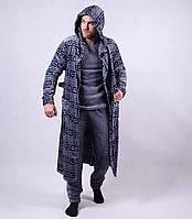 "Набор махровая мужская пижама + халат ""Версачи"" р. 48-56"