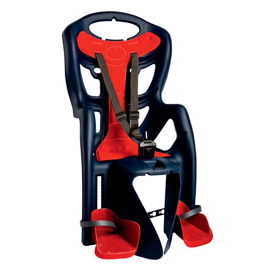 Сиденье заднее BELLELLI Pepe Clamp  детскоедо 22кг (синий с красным) крепится на багажник