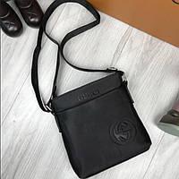 5a6d73f3d514 Современна мужская сумка-планшетка Gucci черная через плечо качественная  унисекс текстиль Гуччи люкс реплика