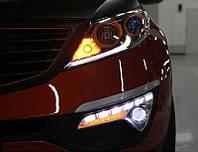 Ходовые огни KIA Sportage 2010- (ПТФ с линзой), фото 1