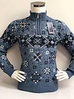Детский свитер под горло зимний на мальчика фирмы FIVE (снежинки) 128