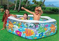 Intex 56493, надувной детский бассейн Океанский риф