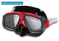 Intex 55975-K, маска для плавания, серо-красные