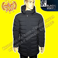 Мужская удлиннённая куртка Black Vinyl