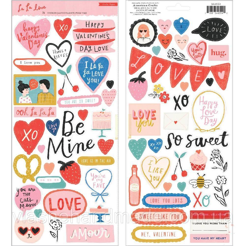 Наклейки - La La Love - Crate Paper - 30х30