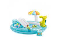 Intex 57129, детский надувной центр бассейн Аллигатор