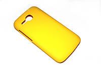 Пластиковый чехол для Huawei Ascend Y600-U20 DualSim желтый, фото 1