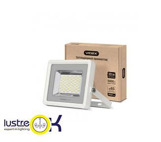 Прожектор LED 30W 5000K 220V белый корпус  VIDEX PREMIUM