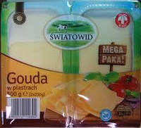 Сыр Гауда нарезка 2х250 г Польша Swiatowid