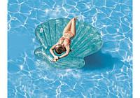 Intex 57255, надувной плотик Голубая ракушка, 191 см, фото 1