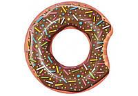 Bestway 36118-brown, надувной круг Шоколадный Пончик, 107 см, фото 1