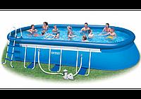 Intex 26194, надувной бассейн Oval Frame Pool