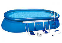Intex 26192, надувной бассейн Oval Frame Pool, фото 1
