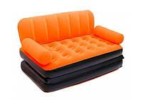 Bestway 67356-orange, надувной диван трансформер. Оранжевый, фото 1