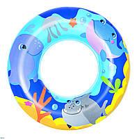 Bestway 36113-blue, надувной круг Морские приключения, 51 см. Голубой, фото 1