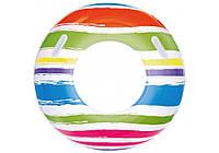 Bestway 36010, надувной круг с ручками Полоски, 91 см, фото 1